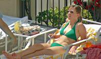 Hilary Swank Sunbathing