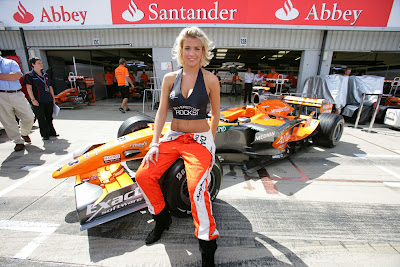 Gemma Atkinson at The British Grand Prix