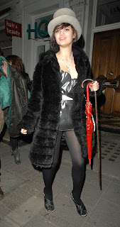 Pixie Geldof in Black Nylons