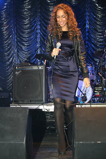 Leona Lewis in Black Nylons