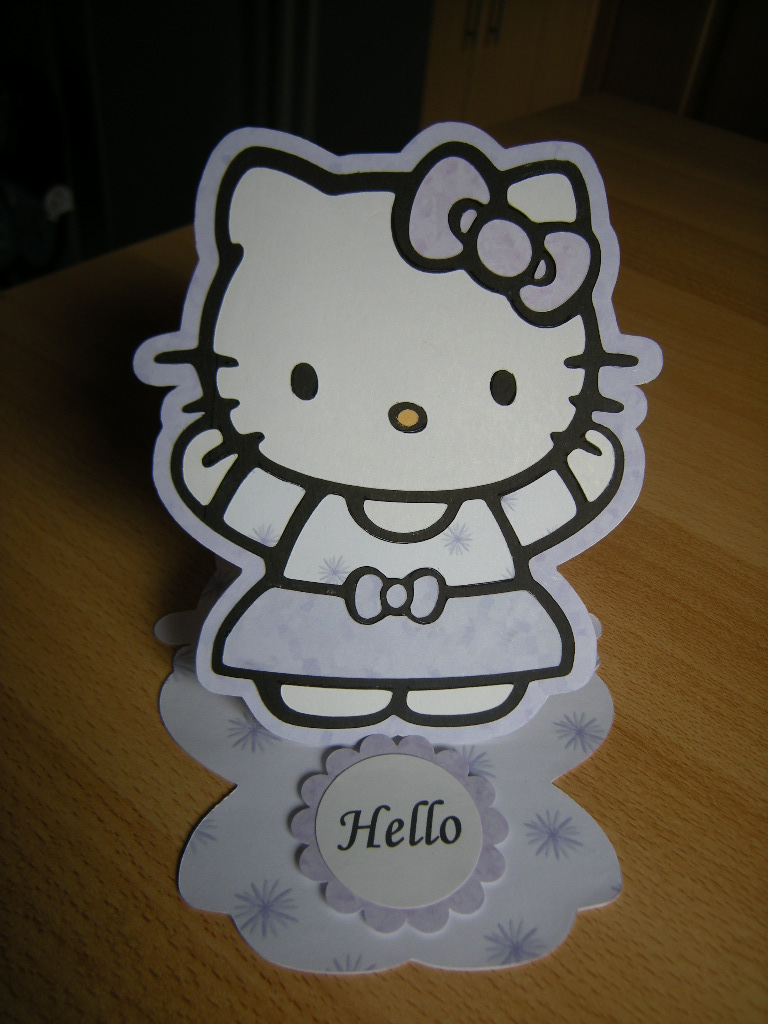 Hello Kitty Easel Card made using my Gypsy and Expression.