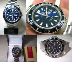 Hot Item For Sale : Orient New Mako Blue(CEM75002DW) & Black(CEM75001B) Dial
