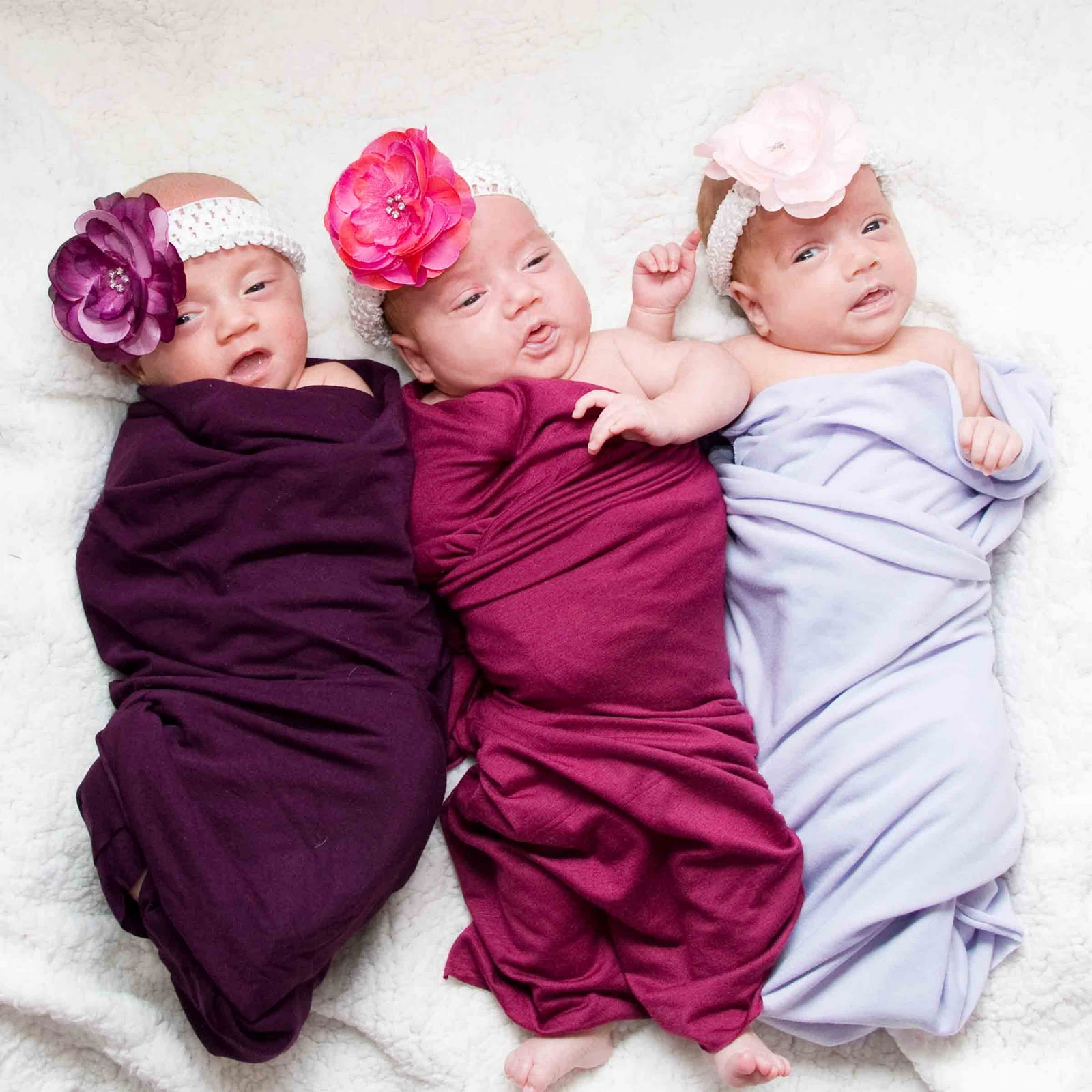 YES, that's THREE Baby Girls! Triplet Shoot Northern ... Three Babies Two Girls One Boy