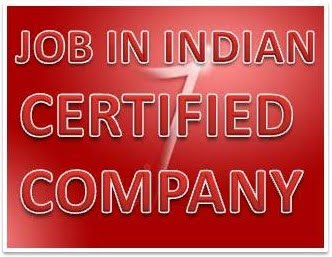 Jobs in indian certified company