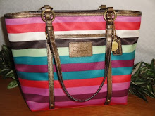 NWT COACH LEGACY MULTI STRIPED TOTE PURSE BAG 14009