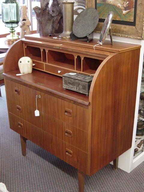newport avenue antiques mid century modern swedish roll top desk. Black Bedroom Furniture Sets. Home Design Ideas
