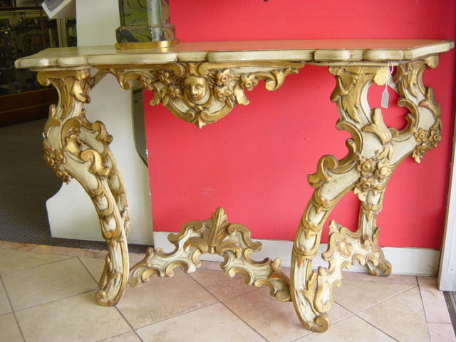 VINTAGE SPANISH BAROQUE CONSOLE TABLE