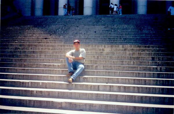 En la escalinata