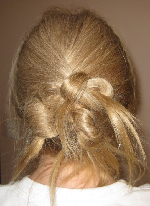 My Bumpy Middle Aged Long Hair Journey Hairstyle 3 Knot Updo