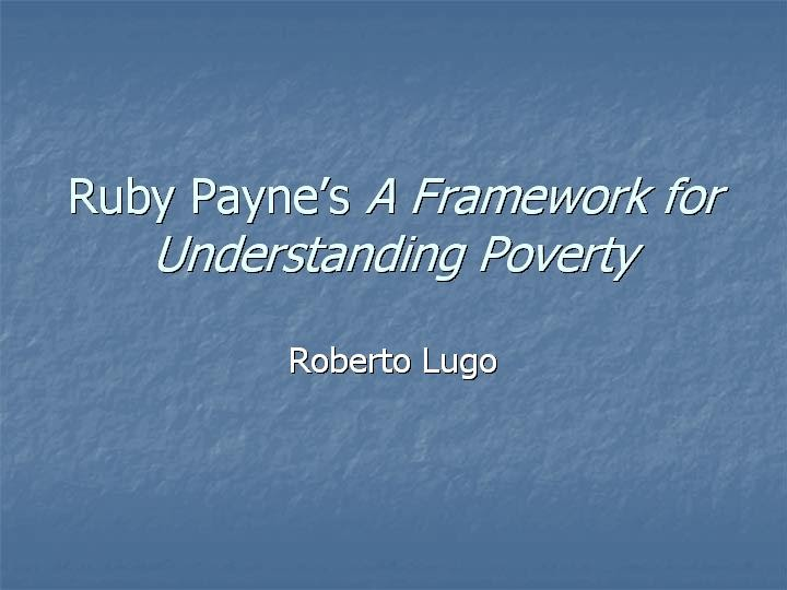 a framework for understanding poverty pdf
