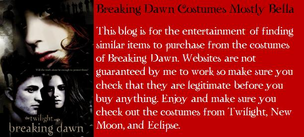 Breaking Dawn Costumes Mostly Bella