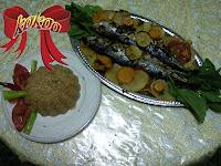 صينية سمك بالزيت والليمون