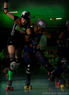 Roller Derby Photos, Roller Derby Photography, Adrian Valenzuela, Santa Cruz Derby Girls, Silicon Valley Roller Girls, Whip It, Foxee Firestorm,Terribelle Demise