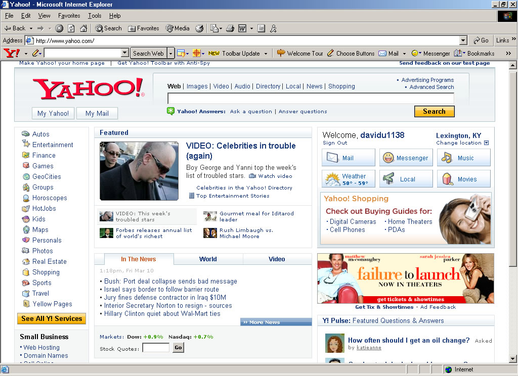 how to set yahoo as homepage