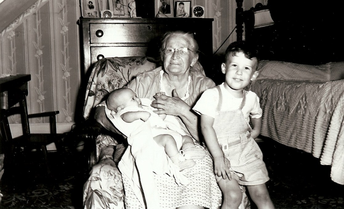 Grandmother Southard & her grandchildren, Betty & Johnny.