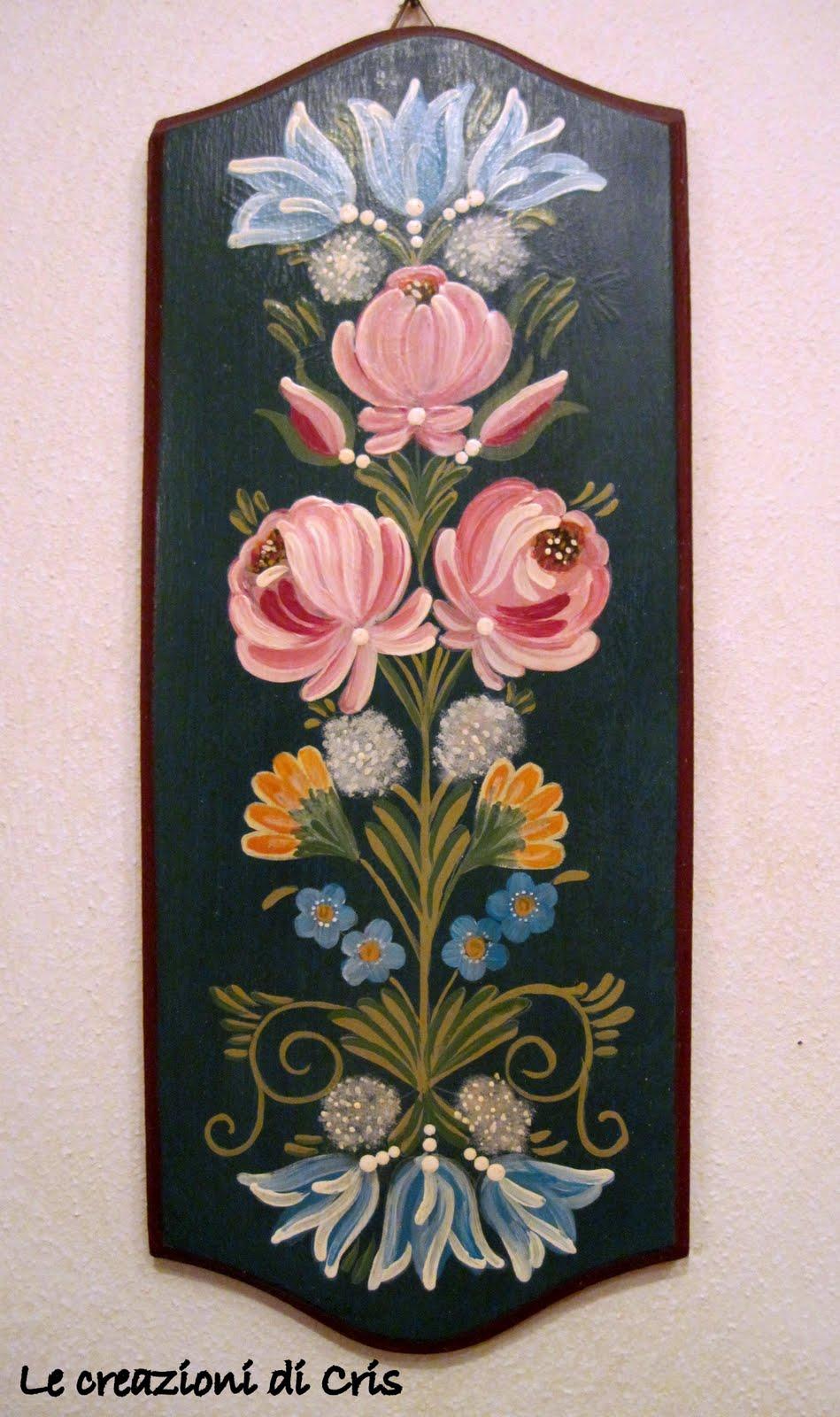 Le creazioni di cris di tutto un p fiori dipinti for Disegni di casa in stile fattoria