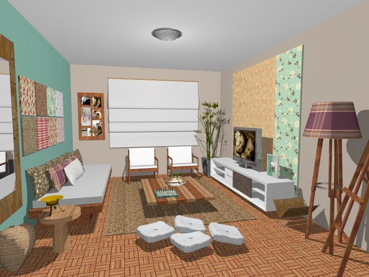 Sala Artista Plastica - patchwork e madeira