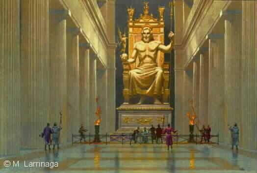 zeus. Statue of Zeus