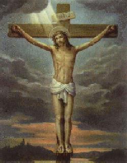 Jesus Christ on Cross Crucifixion with sun lighting background and  clouds background image free religious pictures and drawing art photos