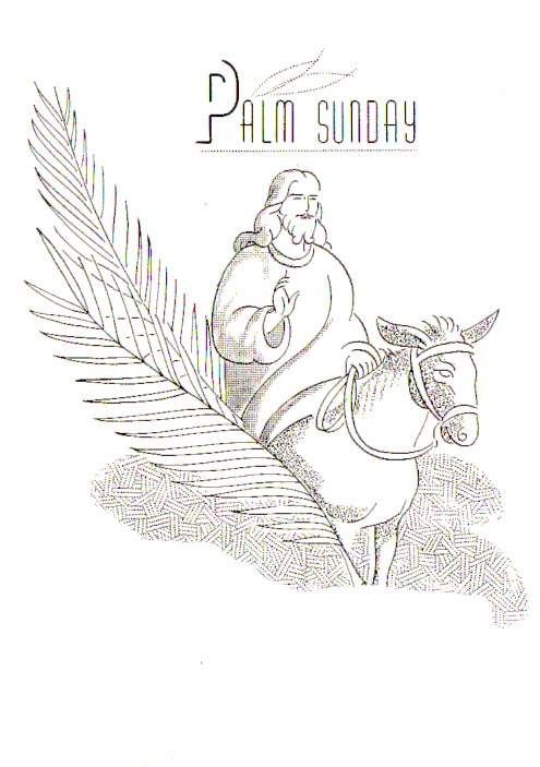 Beautiful Palm Sunday Coloring Pages And Clip Art Pictures