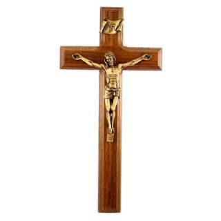 Jesus Christ golden small statue on wooden cross religious Christian hq(hd) wallpaper free download