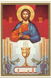 Jesus Christ drawing art and Eucharist icon symbol color picture