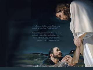 Jesus Christ saving in water a person lost faith prayed for help lord saved beautiful Christian religious picture download free ship sink cried stretched hand save me