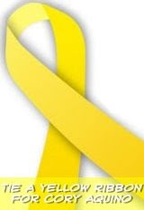 grab the yellow ribbon for Cory Aquino