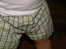 plaid Baby Boxer Shorts with mock fly 0-18mths $15