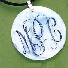 Engravable White Shell Pendant $10 plus $5 for monogramming