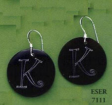 Black Shell engravable earrings $11 plus $5 for monogramming