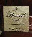 Personalized Name Plaque 13x13 $30