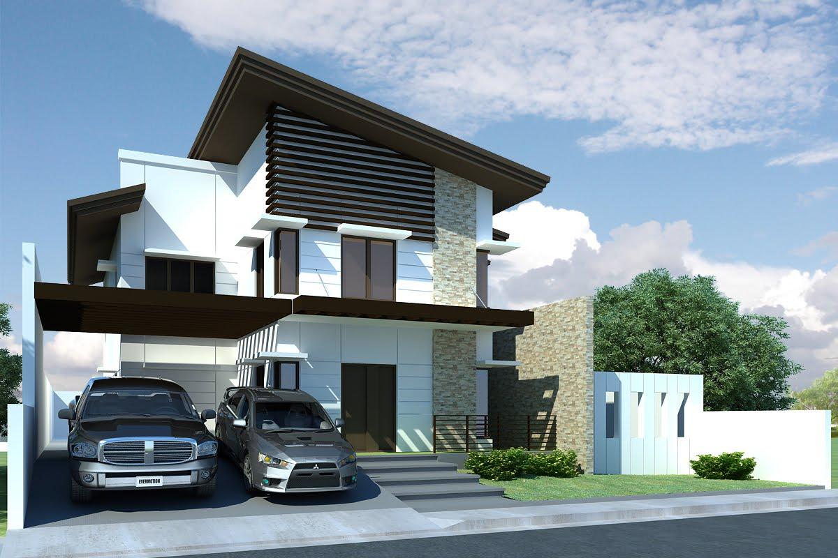 2 storey modern home House modern