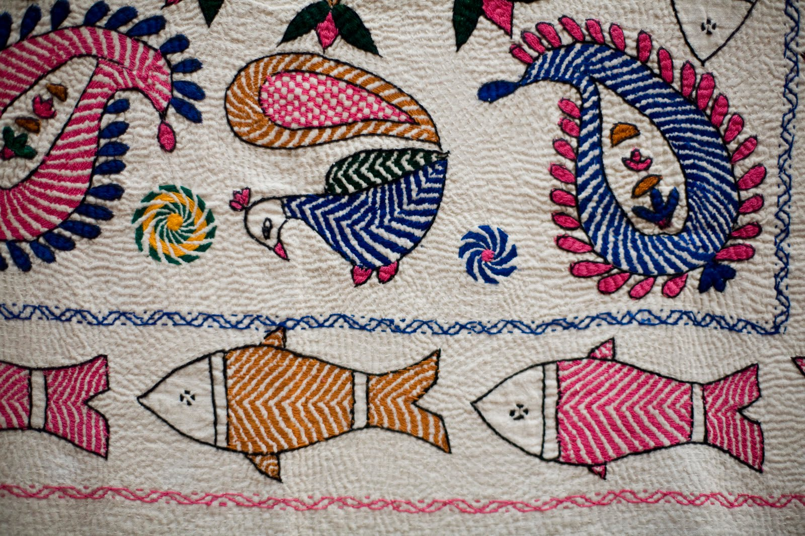 Kantha Embroidery Design Ideas | eHow.com