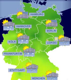 Das wetter in deutschland o tempo na alemanha