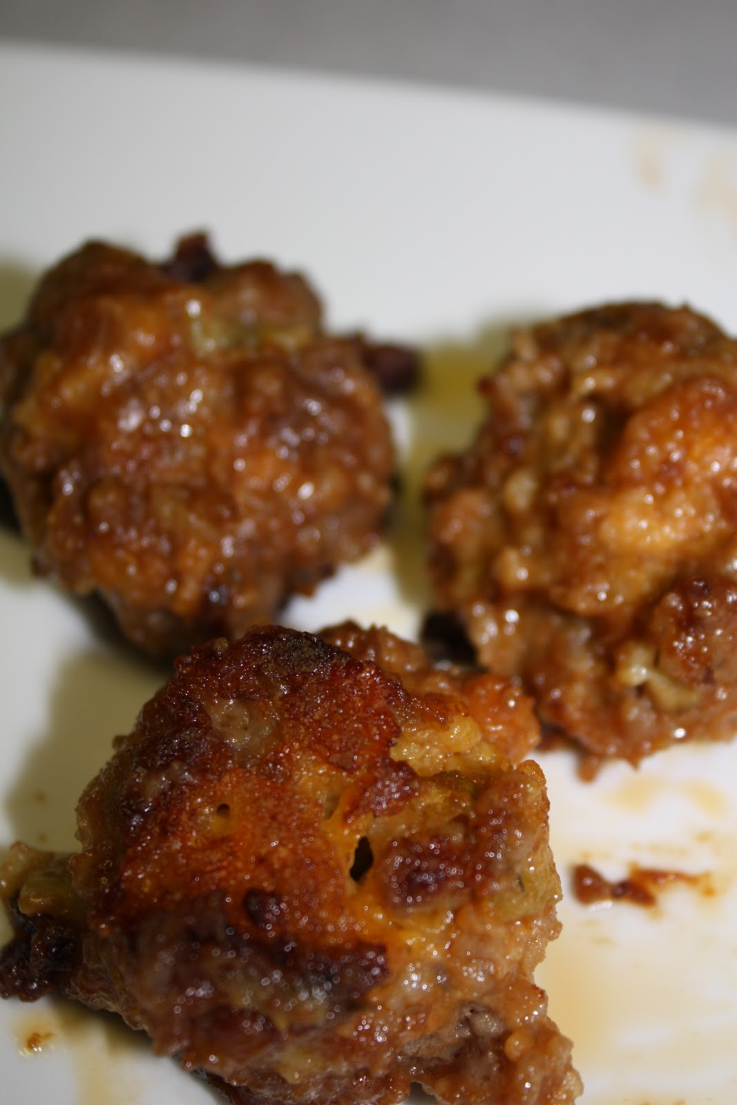 Recipe Reviews with Jen: APPLE- CHEDDAR SAUSAGE MEATBALLS ...