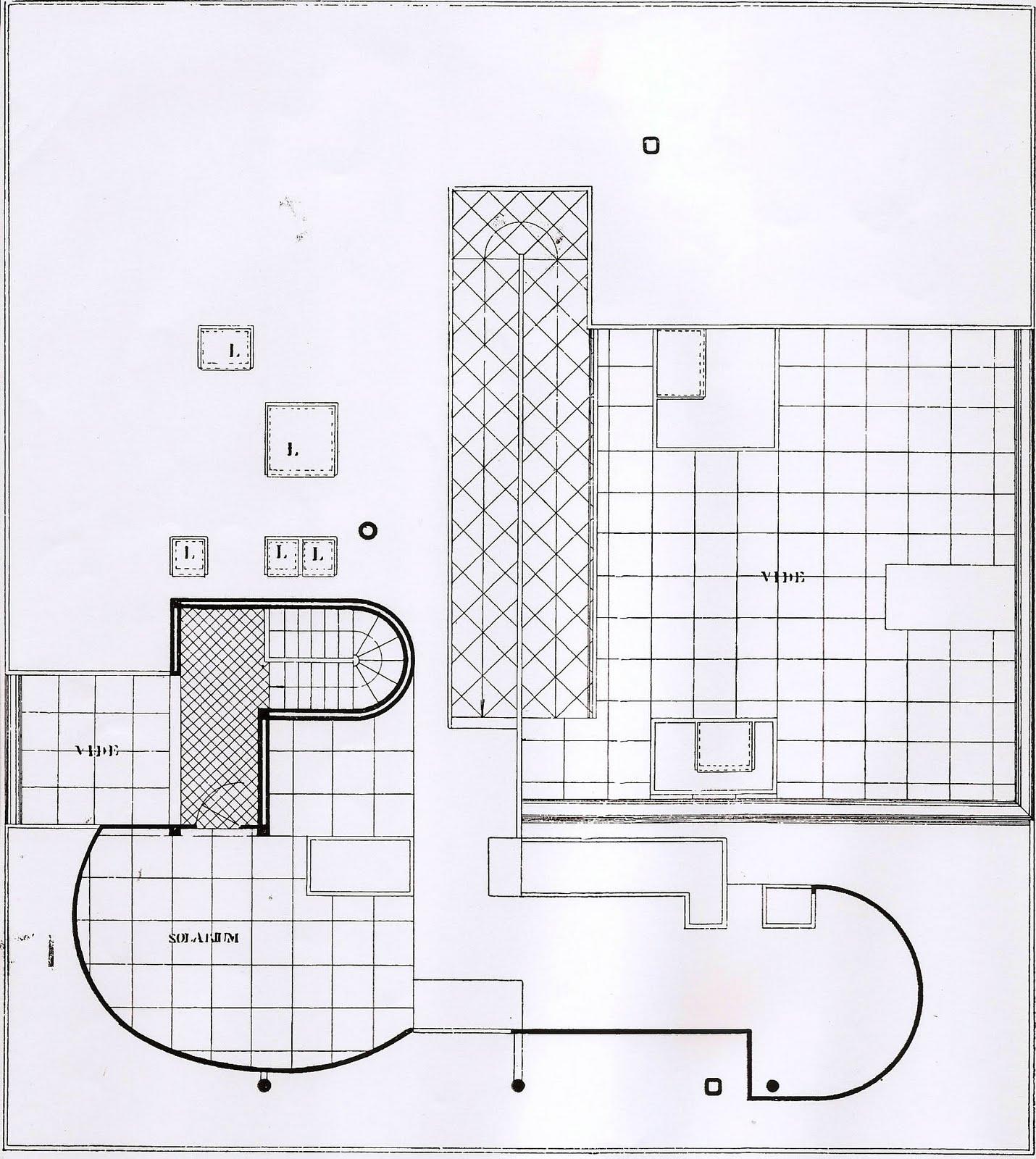 Linh nguyen arch1201 villa savoye plans for Cupola design plans