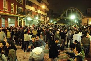 Botellón en la Plaza del Humor
