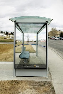 valla publicitaria ilusion optica science alberta foundation