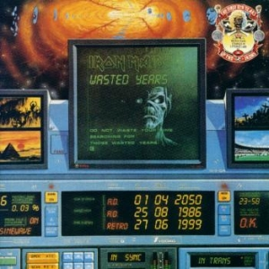 Portada Iron Maiden single wasted years