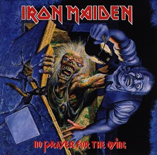 Portada Iron Maiden reedicion no prayer for the dying