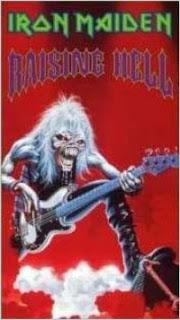 Portada Iron Maiden raising hell