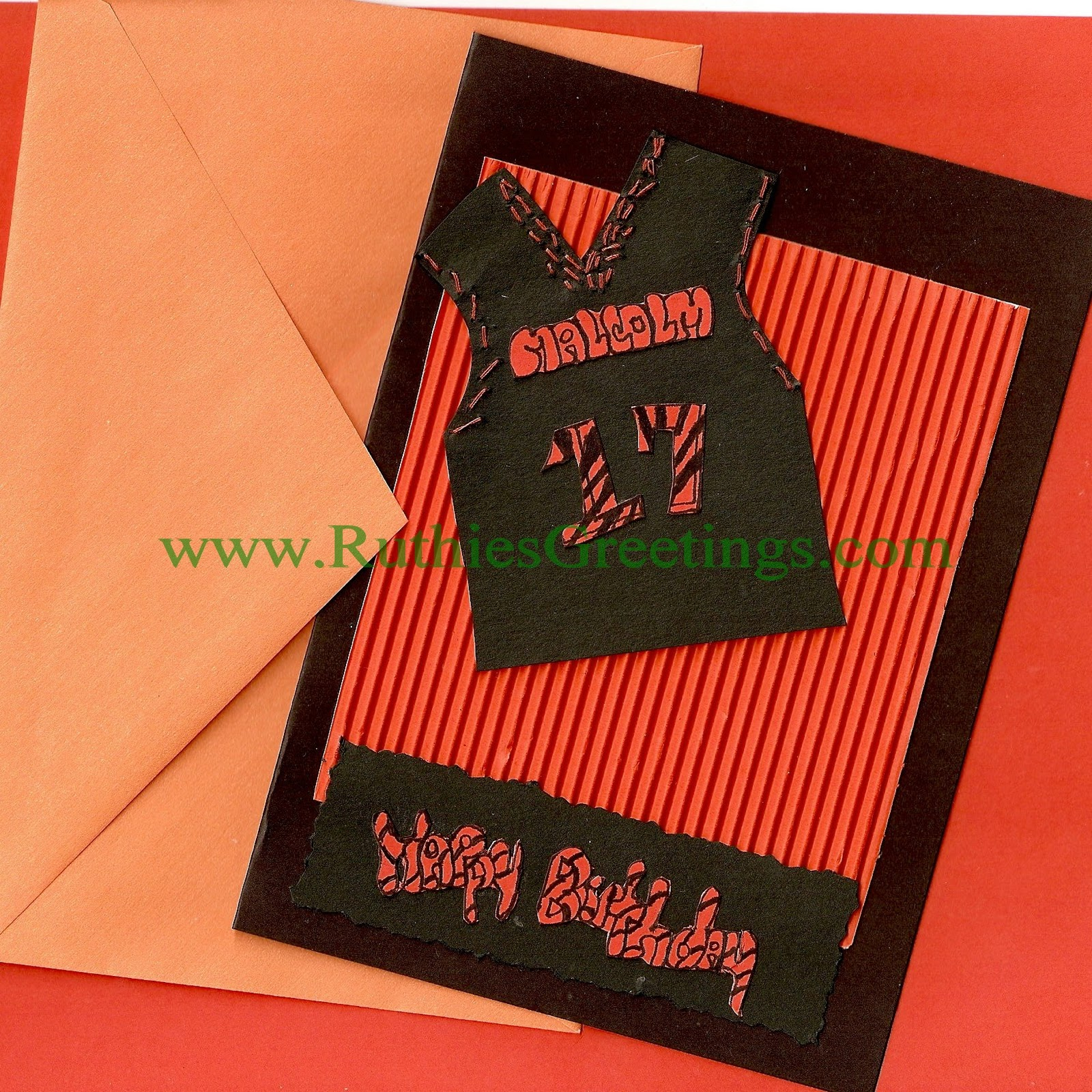 halloween birthday jersey handmade birthday greeting card