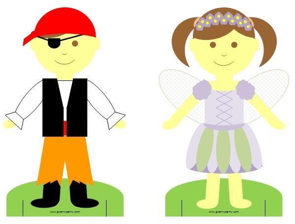printable halloween paper dolls the idea room - Halloween Cutouts For Kids