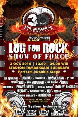 Log For Rock, Konser Rock Terbesar 2010