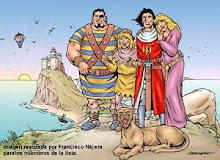 El Capitán Trueno, Goliath, Crispín y Sigrid.