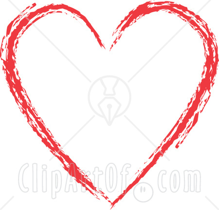 For a cuter design, you can choose to have a heart outline with the flag