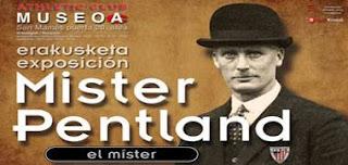 Cartel de la exposición sobre Mr Pentland que se encuentra en el Museo del Athletic Club