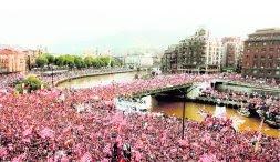 Decenas de miles de bilbaínos celebran la victoria de 1984