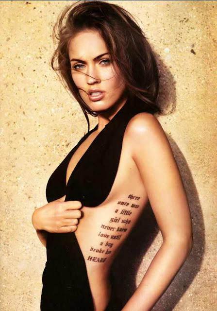 Megan Fox-Rib Cage Tattoos. Posted by ipanksoekamti at 1:42 AM | Labels: